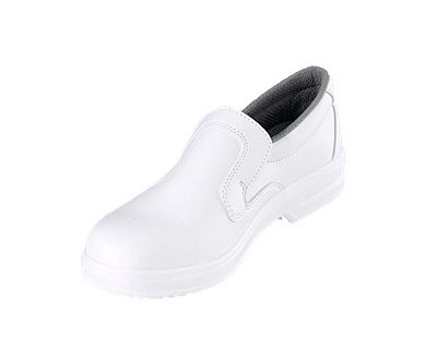 a1d597af3a8 Catering White Micro Fibre Slip On Safety Shoe