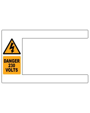 Pack of 100 Cable labels for cables up to 25mm diameter 230 Volt