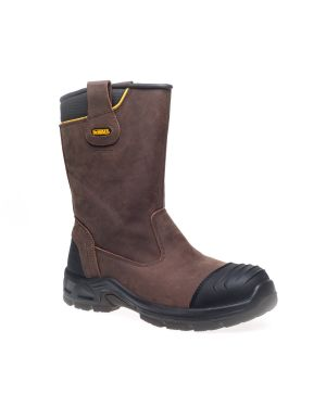 Dewalt Tungsten Brown Leather Weatherproof Safety Rigger Boots