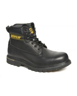 Cat Holton Black Leather Safety Boots