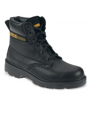 "Apache Black 6"" S3 Boot With Steel Midsole AP300"