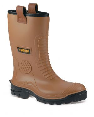Apache Tan Boot With Steel Midsole AP312