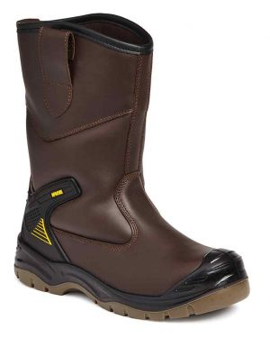 AP305SM Apache Brown Fur Lined Rigger Boots