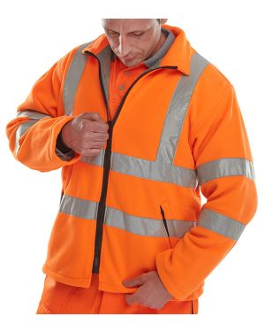 Carnoustie Rail Spec Orange Hi Vis Fleece Jacket