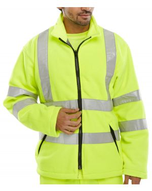 Carnoustie Class 3 Yellow Hi Vis Fleece Jacket