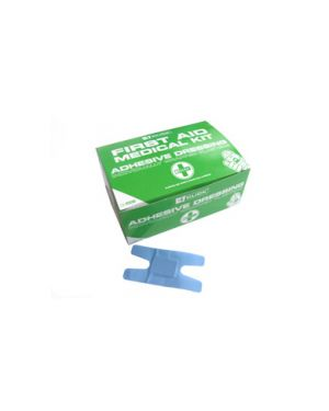 Box of 100 assorted blue plasters (food industry) CFABDP100