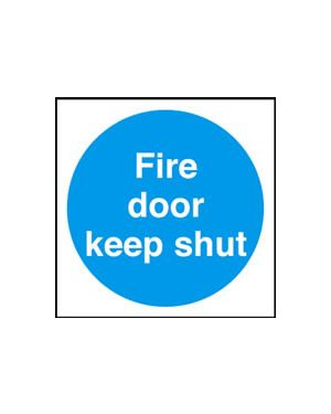 Fire Door Keep Clear Shut 100 x 100MM