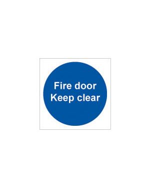 Fire Door Keep Clear Sign 100 x 100MM