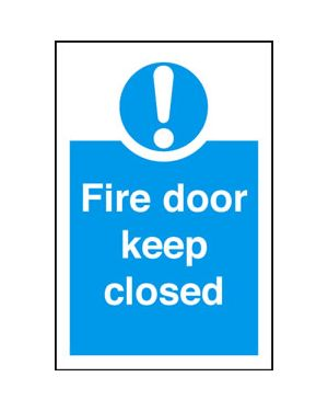 Fire Door Keep Closed Sign 200 x 300MM
