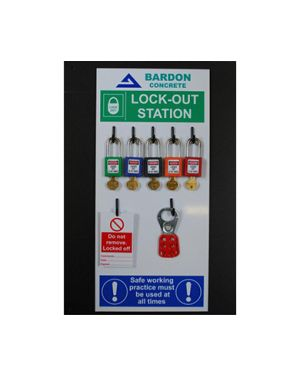 5 Padlock LOCK OUT station