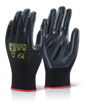 Nylon Multi Purpose, nitrile coated palm and fingers Gloves ( PACK OF 10 )