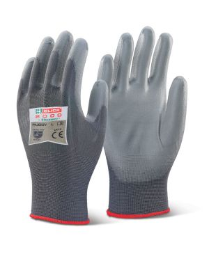 Nylon Multi Purpose Polyurethane Palm Coated Gloves ( PACK OF 10 )