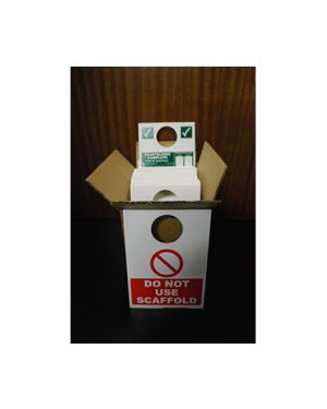 Box of 40 Scaffold Inspection Signs