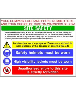 SSCONS0013 | Custom Site Safety Sign