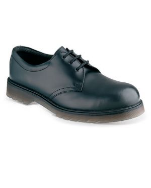 SS100 Sterling Steel Black Air Bounce Leather Safety Shoes