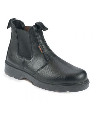 SS600SM Worksite Black Leather Dealer Boots