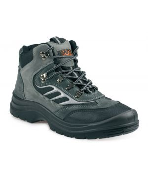 SS605SM Worksite High Top Grey Suede Safety Trainer