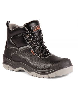 SS609SM Worksite Water Resistant Black Leather Safety Boots