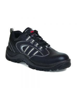 SS705CM Airside Non Metallic Leather Safety Trainers