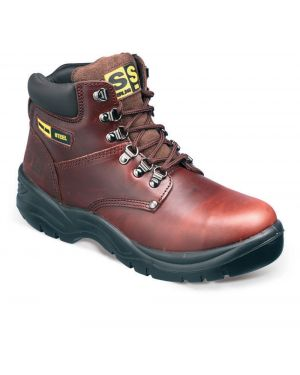 SS807SM Sterling Steel Brown leather Hiker Safety Boots