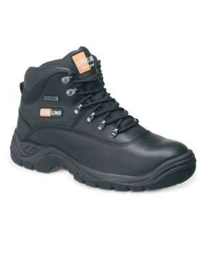 Sterling Steel Black Waterproof Hiker WIth Steel Midsole SS812