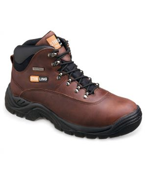 Sterling Steel Brown Waterproof Hiker With Steel Midsole SS813