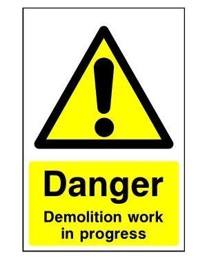 SSCONS0020 | Danger: Demolition work in progress