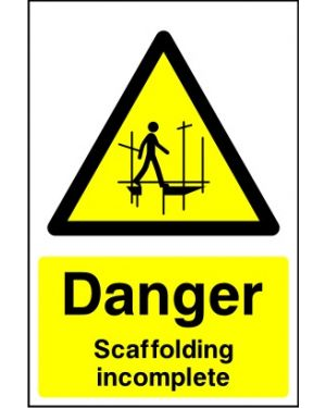 SSCONS0021 | Danger: Scaffolding incomplete
