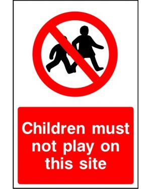 SSCONS0022 | Children must not play on this site