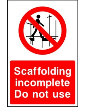 SSCONS0023 | Scaffolding incomplete do not use