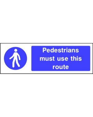 Mandatory: Pedestrians Must Use This Route