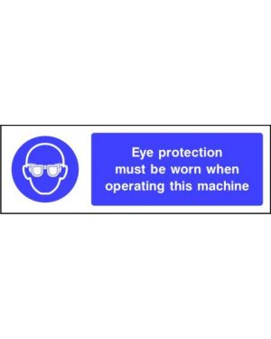 SSMANDP0003 | Mandatory: Eye protection must be worn when operating this machine