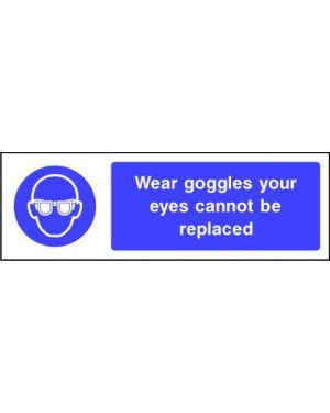 SSMANDP0005 | Mandatory: Wear goggles your eyes cannot be replaced