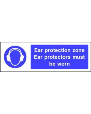 SSMANDP0010 | Mandatory: Ear protection zone ear protectors must be worn