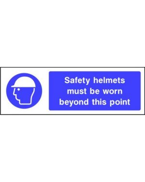 Mandatory: Safety helmets must be worn beyond this point
