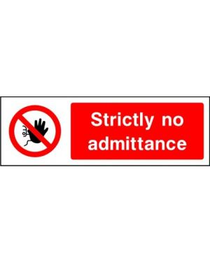 SSPROHA0003 | Prohibition: strictly no admittance