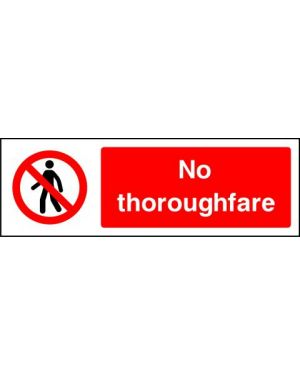 SSPROHA0012 | Prohibition: no thoroughfare