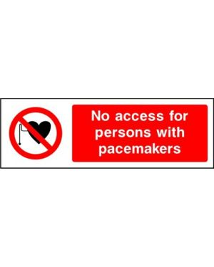 Prohibition: No Access For Persons With Pacemakers