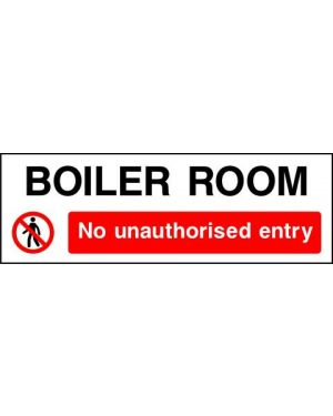 Prohibition: Boiler Room No Unauthorised Entry