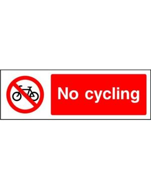 SSPROHG0004 | Prohibition: no cycling