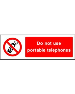 SSPROHG0008 | Prohibition: Do not use portable telephones