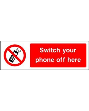 SSPROHG0009 | Prohibition: switch your phone off here