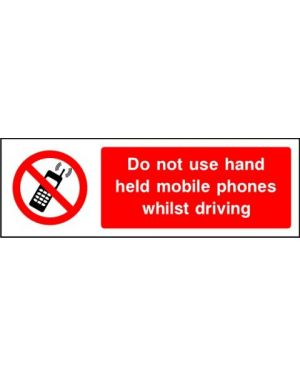 SSPROHG0011 | Prohibition: do not use hand held mobile phones whilst driving