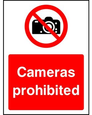 Prohibition: Cameras Prohibited
