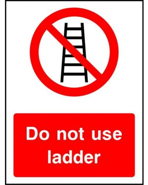 Prohibition: Do Not Use Ladder