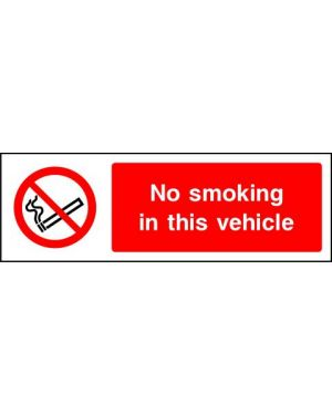 SSPROHS0007 | Prohibition: no smoking in this vehicle