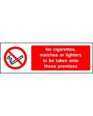 Prohibition: No Cigerettes Matches Or Lighters