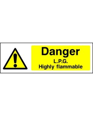 SSWARNC0013 | Warning: Danger L.P.G highly flammable
