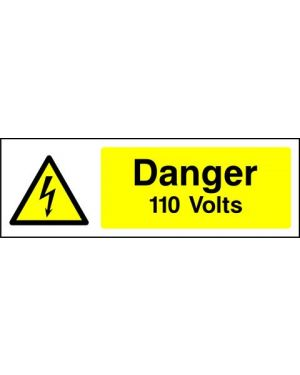 SSWARNE0001 | Warning: Danger 110 volts