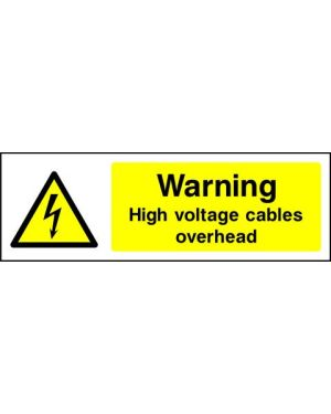 SSWARNE0010 | Warning: Warning high voltage cables overhead